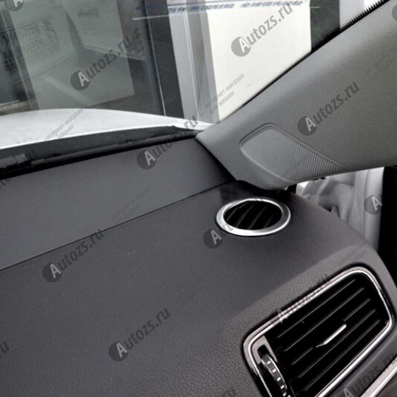 Декоративные накладки для боковых отверстий обдува салона Volkswagen Jetta 6 рестайлинг 2015+Хромированные накладки Volkswagen Jetta 6 рестайлинг 2015+<br>Декоративные молдинги используются для украшения салона автомобиля.<br><br>Простая и легкая установка (все в комплекте):<br><br><br>Очистить поверхность, куда будут устанавливаться накладки.<br><br>Снять скочт с накладки и прекле...<br>