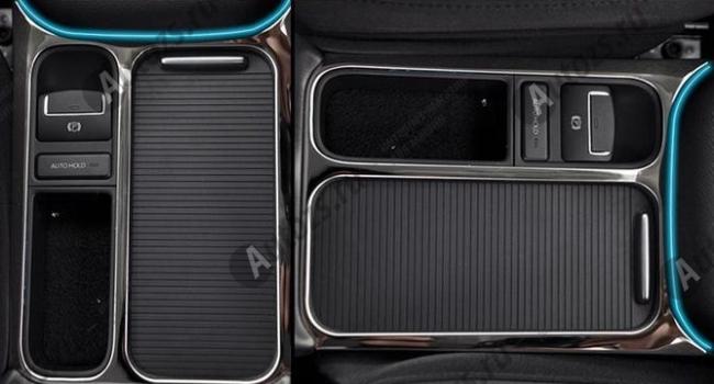 Декоративная накладка на нижнюю консоль салона Volkswagen Tiguan 1 2011-2015 AХромированные накладки Volkswagen Tiguan 1 2007-2016<br>Декоратинвные молдинги используются для украшения панели приборов, салона и т.д.<br><br><br>Простая и легкая установка (все в комплекте):<br><br><br>Очистить поверхность, куда будут устанавливаться накладки.<br><br>Снять скочт с накла...<br>