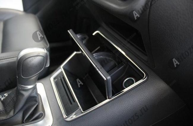 Декоративная накладка на нижнюю консоль салона Volkswagen Tiguan 1 2011-2015 BХромированные накладки Volkswagen Tiguan 1 2007-2016<br>Декоратинвные молдинги используются для украшения панели приборов, салона и т.д.<br><br><br>Простая и легкая установка (все в комплекте):<br><br><br>Очистить поверхность, куда будут устанавливаться накладки.<br><br>Снять скочт с накла...<br>