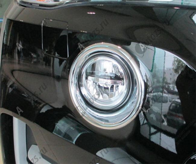 Накладки на передние ПТФ BMW X5 F15 2013+Хромированные накладки BMW X5<br>Накладки для ПТФ с нанесенным слоем хромового покрытия служат эффектной деталью внешней декоративной отделки автомобилей, в оформлении которых уже используются другие хромированные аксессуары. Кроме того, наклад...<br>
