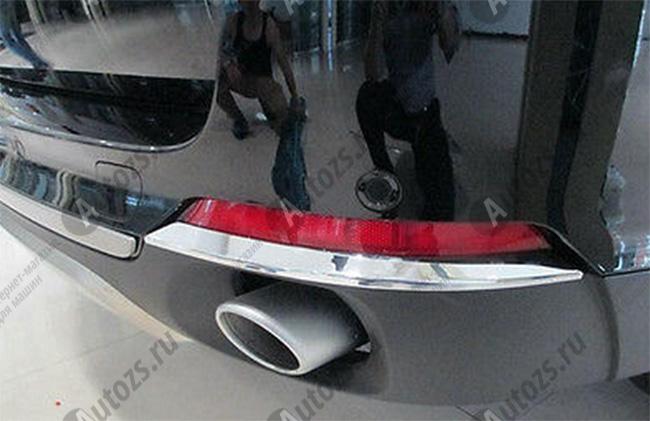 Накладки на задние ПТФ BMW X5 F15 2013+Хром накладки на ПТФ<br>Накладки для ПТФ с нанесенным слоем хромового покрытия служат эффектной деталью внешней декоративной отделки автомобилей, в оформлении которых уже используются другие хромированные аксессуары. Кроме того, наклад...<br>