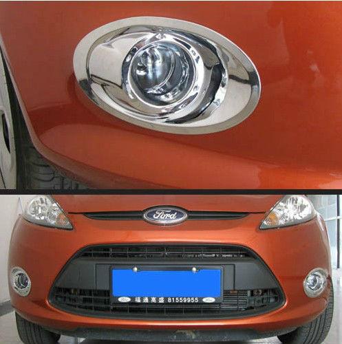 Накладки на передние ПТФ Ford Fiesta 6 2012+