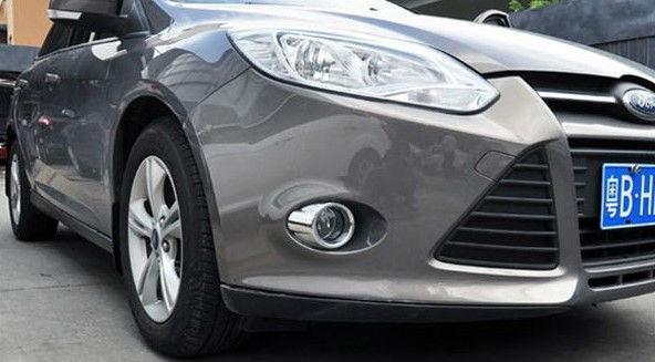 Накладки на передние ПТФ Ford Focus 3 2011-2015 А