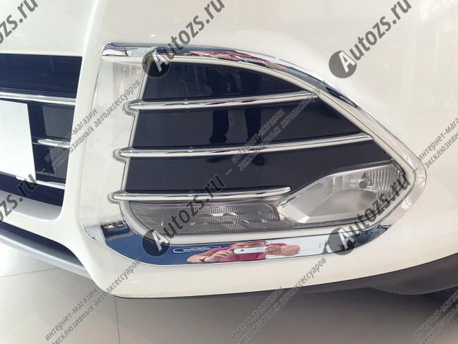 Купить со скидкой Накладки на передние ПТФ Ford Kuga 2 2013-2016