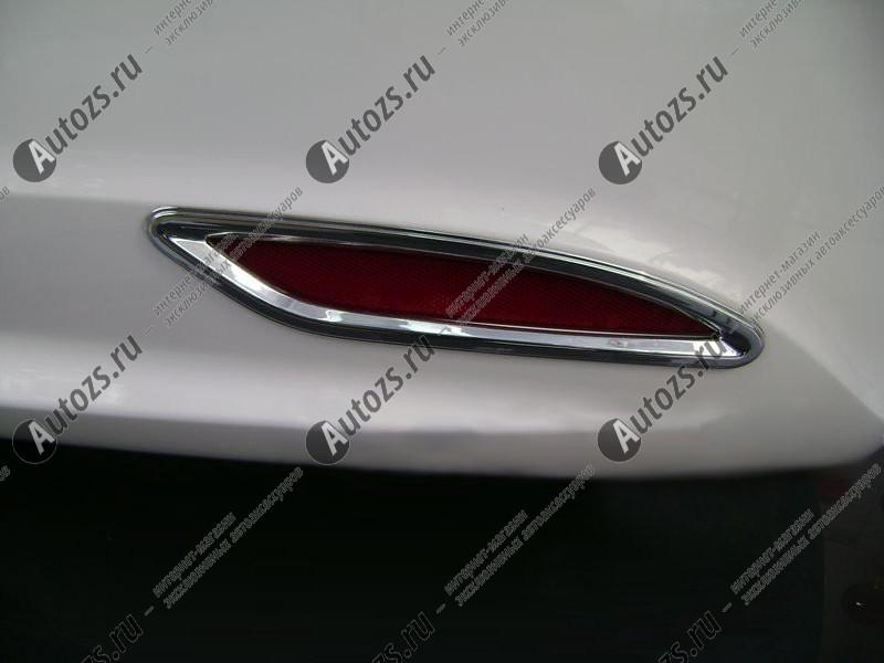 Накладки на задние ПТФ Hyundai Sonata 6 2010-2014