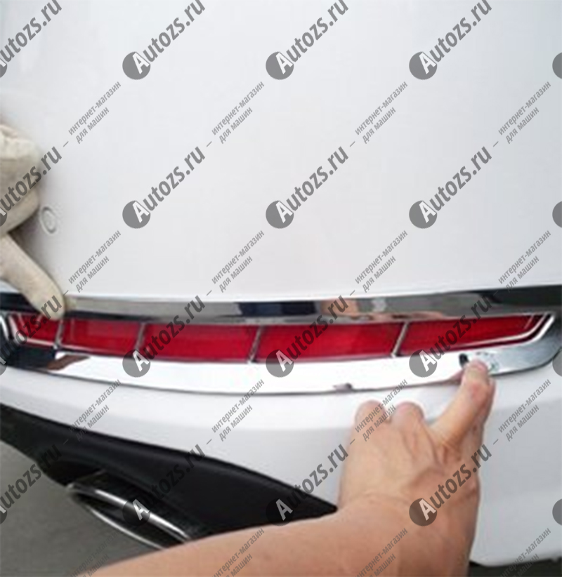 Накладки на задние ПТФ Kia Optima 3 2010-2013Хромированные накладки KIA Optima<br>Накладки для ПТФ с нанесенным слоем хромового покрытия служат эффектной деталью внешней декоративной отделки автомобилей, в оформлении которых уже используются другие хромированные аксессуары. Кроме того, наклад...<br>
