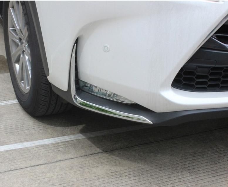 Накладки на передние ПТФ Lexus Nx 2014-2017Хром накладки на ПТФ<br>Накладки для ПТФ с нанесенным слоем хромового покрытия служат эффектной деталью внешней декоративной отделки автомобилей, в оформлении которых уже используются другие хромированные аксессуары. Кроме того, наклад...<br>