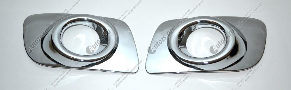 Накладки на передние ПТФ Mazda 6 GG 2005-2008 CN AХромированные накладки Mazda 6<br>Накладки для ПТФ с нанесенным слоем хромового покрытия служат эффектной деталью внешней декоративной отделки автомобилей, в оформлении которых уже используются другие хромированные аксессуары. Кроме того, наклад...<br>