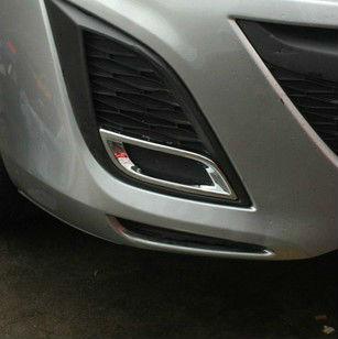 Накладки на передние ПТФ Mazda 3 BL 2009-2011Хромированные накладки Mazda 3 <br>Накладки для ПТФ с нанесенным слоем хромового покрытия служат эффектной деталью внешней декоративной отделки автомобилей, в оформлении которых уже используются другие хромированные аксессуары. Кроме того, наклад...<br>