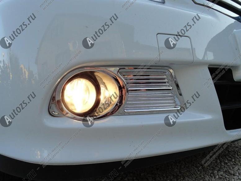 Накладки на передние ПТФ Nissan Almera G15 2013+Хромированные накладки Nissan Almera<br>Накладки для ПТФ с нанесенным слоем хромового покрытия служат эффектной деталью внешней декоративной отделки автомобилей, в оформлении которых уже используются другие хромированные аксессуары. Кроме того, наклад...<br>