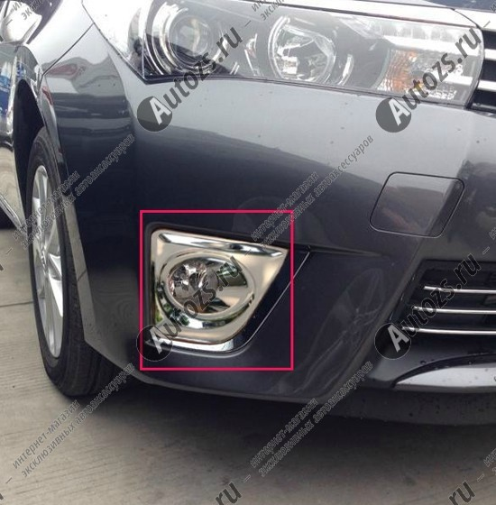 Накладки на передние ПТФ Toyota Corolla E160 2013+