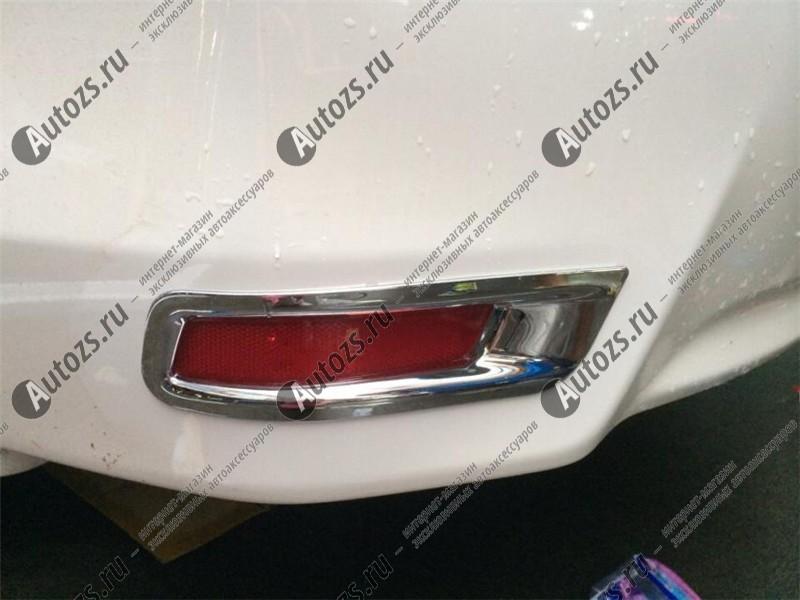 Накладки на задние ПТФ Toyota Corolla E160 2013+
