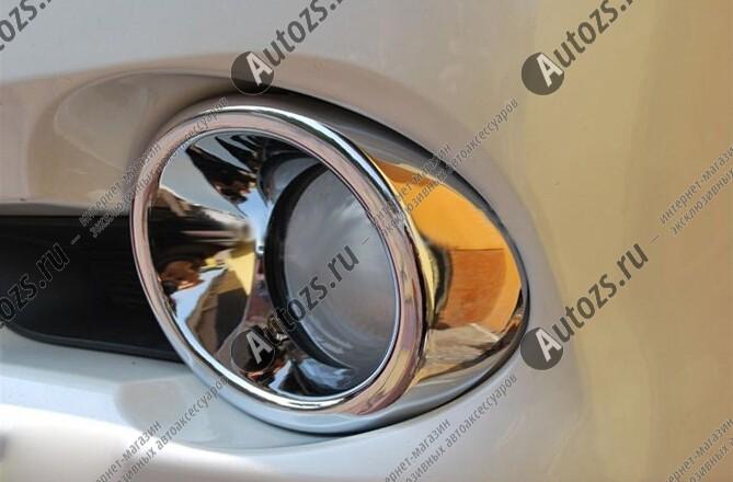 Накладки на передние ПТФ Toyota Highlander 2 2007-2010Хром накладки на ПТФ<br>Накладки для ПТФ с нанесенным слоем хромового покрытия служат эффектной деталью внешней декоративной отделки автомобилей, в оформлении которых уже используются другие хромированные аксессуары. Кроме того, наклад...<br>