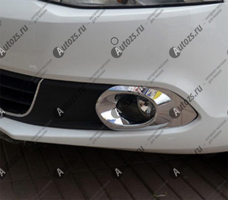 Купить со скидкой Накладки на передние ПТФ Volkswagen Jetta 6 2011-2014 A