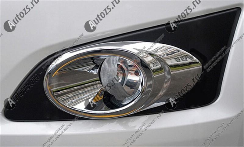 Накладки на передние ПТФ Chevrolet Aveo T300 2012+