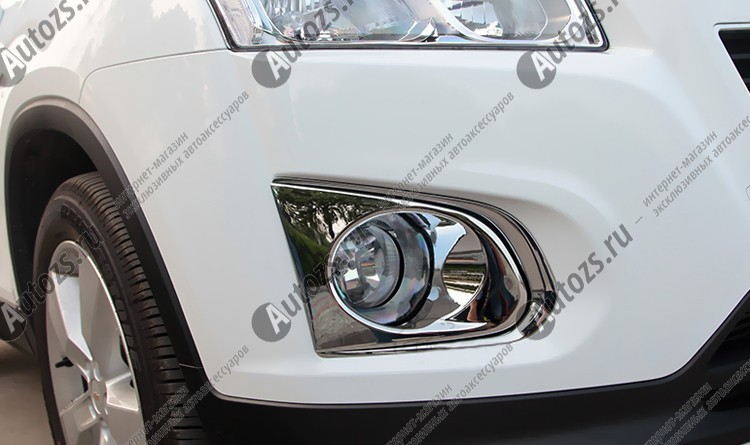 Купить со скидкой Накладки на передние ПТФ Chevrolet Tracker 3 2013+