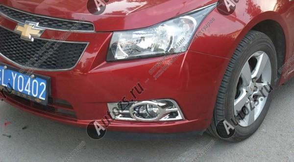 Купить со скидкой Накладки на передние ПТФ Chevrolet Cruze 1 2009-2012 B