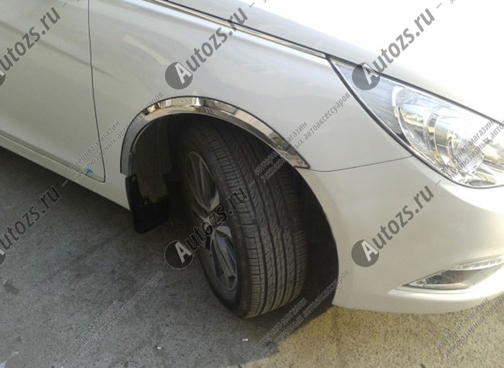 Накладки на арки колес Hyundai Solaris 1 2010+ короткиеХромированные накладки Hyundai Solaris <br>Накладки на арки изменят внешний вида автомобиля, обеспечат защиту кузова от забрызгивания из-под колес....<br>