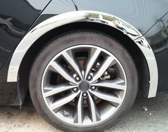 Накладки на арки колес Mitsubishi Outlander 3 2012-2014Хромированные накладки Mitsubishi Outlander<br>Накладки на арки изменят внешний вида автомобиля, обеспечат защиту кузова от забрызгивания из-под колес....<br>