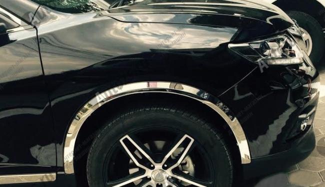Накладки на арки колес Nissan X-Trail T32 2015+Хромированные накладки Nissan X-Trail T32 2015+<br>Накладки на арки изменят внешний вида автомобиля, обеспечат защиту кузова от забрызгивания из-под колес.<br><br>Накладки на арки колес Nissan X-Trail T32 2015+...<br>
