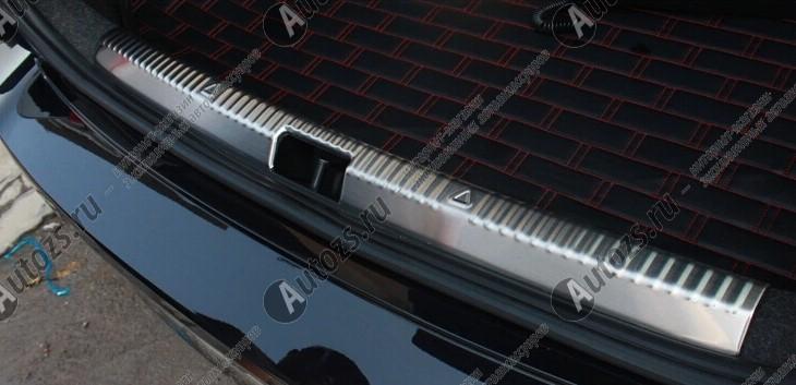 Накладка на задний борт багажника Skoda Octavia A7 2013+Хромированные накладки Skoda Octavia<br>Накладка на багажник предназначена для защиты поверхности заднего борта багажного отсека и служит стильным элементом внешнего тюнинга. Аксессуар эффективно предотвращает возникновение царапин и других поврежден...<br>