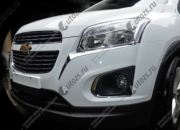 Хромированные накладки под фары Chevrolet Tracker 2 2015+Хромированные накладки Chevrolet Tracker<br>Установка накладок на фары является популярным среди автолюбителей способом внешнего тюнинга автомобилей. Стильные и надежные аксессуары не только служат оригинальными декоративными элементами дизайна, но и выпо...<br>