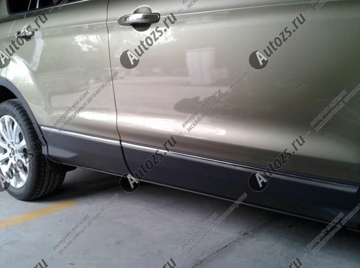 Хромированные накладки на двери Ford Kuga 2 2013+Хромированные накладки Ford Kuga<br>Молдинги относятся к наиболее распространенным элементам внешнего автомобильного тюнинга. Аксессуары выполняются в виде небольших выпуклых планок для декорирования автомобиля. Накладки на двери также служат для...<br>