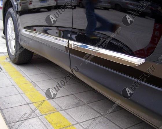 Хромированные накладки на двери Honda CR-V 4 2012+Хромированные накладки Honda CR-V<br>Молдинги относятся к наиболее распространенным элементам внешнего автомобильного тюнинга. Аксессуары выполняются в виде небольших выпуклых планок для декорирования автомобиля. Накладки на двери также служат для...<br>