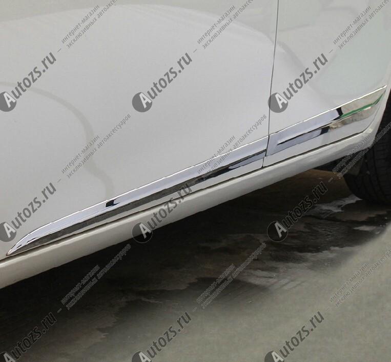 Хромированные накладки на двери Toyota Corolla E160 2013+ B