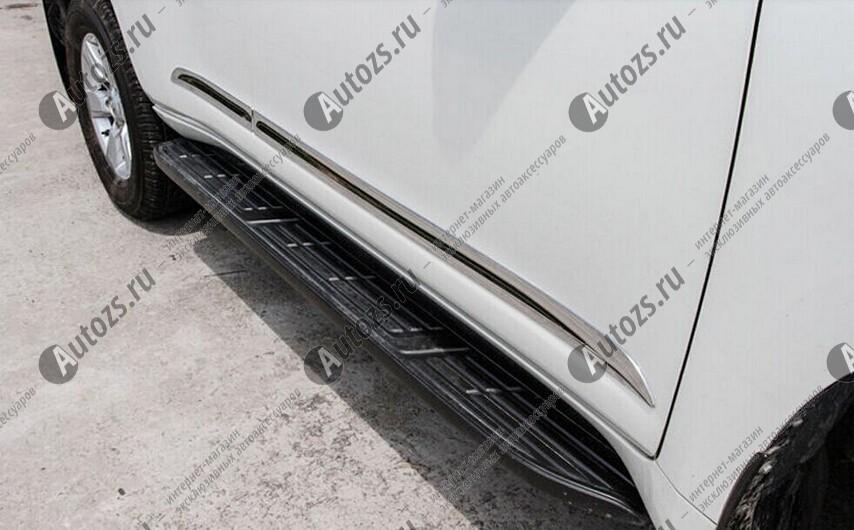 Купить со скидкой Хромированные накладки на двери Toyota Land Cruiser Prado 150 2013+ B