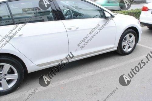 Хромированные накладки на двери Volkswagen Golf 7 2013+
