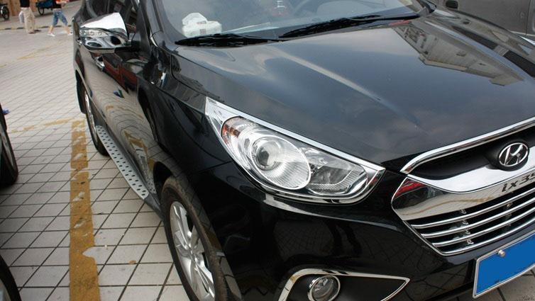 Хромированные накладки на фары Hyundai ix35 2010+