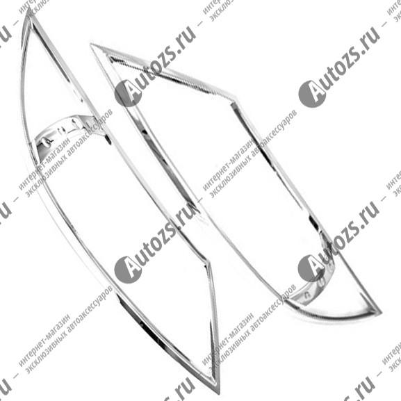 Хромированные накладки на фары Kia Sportage 3 2010-2015 BХромированные накладки KIA Sportage<br>Установка накладок на фары является популярным среди автолюбителей способом внешнего тюнинга автомобилей. Стильные и надежные аксессуары не только служат оригинальными декоративными элементами дизайна, но и выпо...<br>