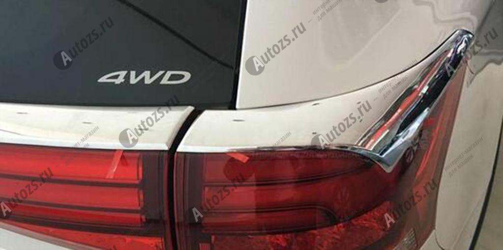 Хромированные накладки на задние фонари Mitsubishi Outlander 3 рестайлинг 2015+ реснички