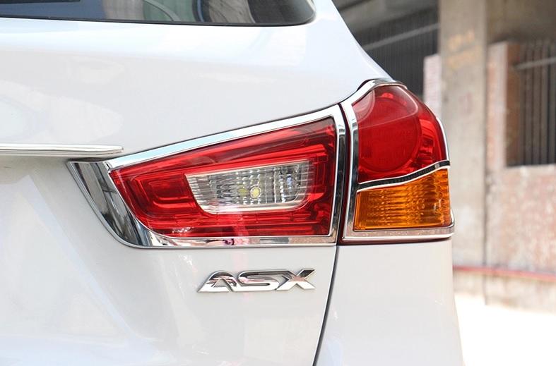 Хромированные накладки на задние фонари Mitsubishi ASX 2010+Хром накладки для фонарей<br>Установка накладок на фонари является популярным среди автолюбителей способом внешнего тюнинга автомобилей. Стильные и надежные аксессуары не только служат оригинальными декоративными элементами дизайна, но и вы...<br>
