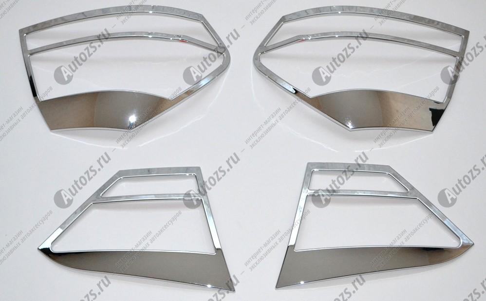 Хромированные накладки на задние фонари Volkswagen Passat B7 2011-2015 CNХром накладки для фонарей<br>Установка накладок на фонари является популярным среди автолюбителей способом внешнего тюнинга автомобилей. Стильные и надежные аксессуары не только служат оригинальными декоративными элементами дизайна, но и вы...<br>