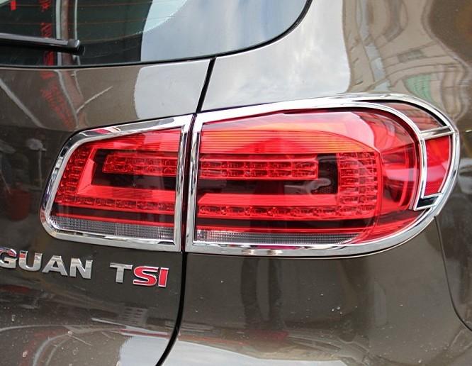 Купить со скидкой Хромированные накладки на задние фонари Volkswagen Tiguan 1 2011-2015 B