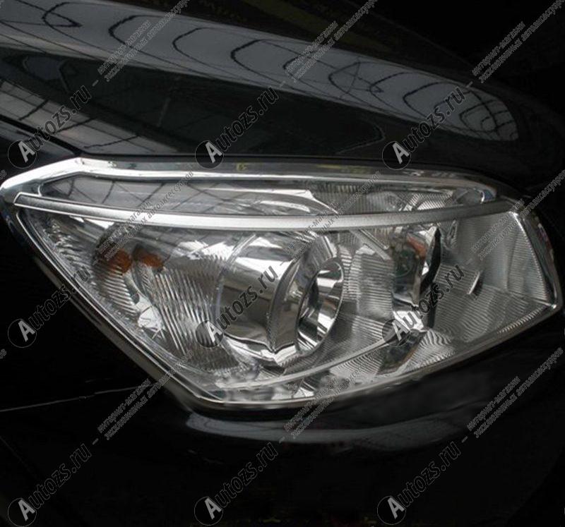 Хромированные накладки на фары Toyota Rav 4 CA30 2006-2009