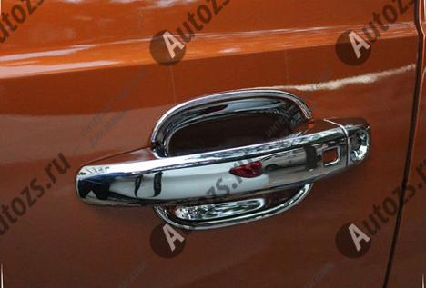 Накладки для ниш дверных ручек Audi Q3 Typ 8U 2011-2018Хромированные накладки Audi Q3<br>Хромированные аксессуары используются для установки на ручки дверей и декоративного оформления других деталей кузова автомобиля. Накладки также выполняют защитную функцию, предотвращая возникновения мелких цара...<br>