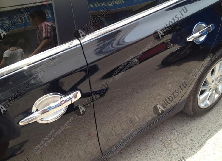 Накладки для ниш дверных ручек Nissan Almera G15 2013+