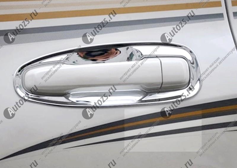 Накладки для ниш дверных ручек Toyota Land Cruiser Prado 150 2013+ (4 накладки)