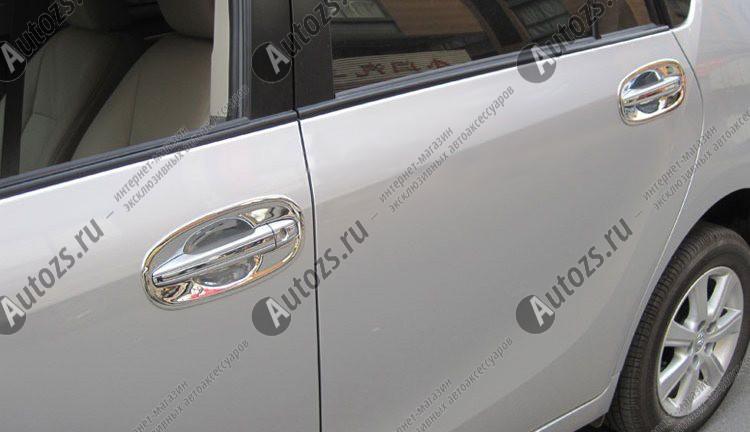 Накладки для ниш дверных ручек Toyota Avensis 3 2009-2015