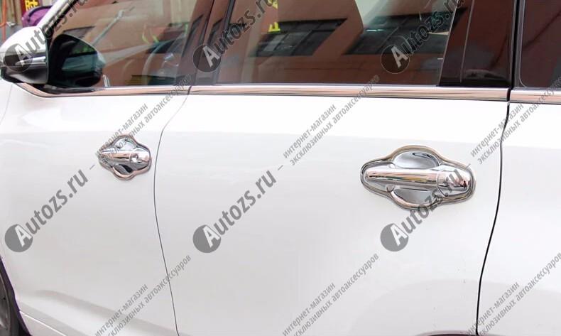 Купить со скидкой Накладки для ниш дверных ручек Toyota Highlander 3 2014+