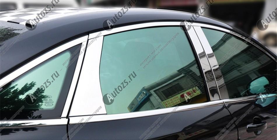 Молдинги окон Ford Focus 3 2011-2018 седан (8 молдингов)Хромированные накладки Ford Focus III<br>Молдинги относятся к наиболее распространенным элементам внешнего автомобильного тюнинга. Аксессуары выполняются в виде небольших выпуклых планок для декорирования боковых окон автомобиля. Накладки на окна двер...<br>