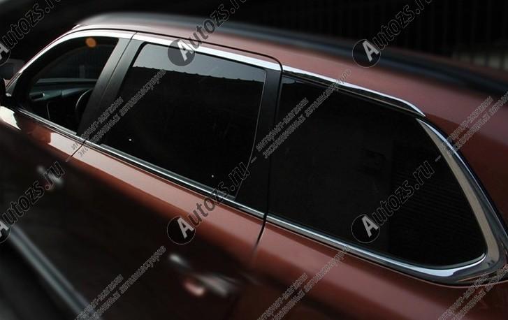 Молдинги окон Mitsubishi Outlander 3 2012+ (14 молдингов) AХромированные накладки Mitsubishi Outlander<br>Молдинги относятся к наиболее распространенным элементам внешнего автомобильного тюнинга. Аксессуары выполняются в виде небольших выпуклых планок для декорирования боковых окон автомобиля. Накладки на окна двер...<br>