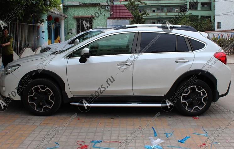 Купить Молдинги окон Subaru XV 2011+ (12 молдингов)