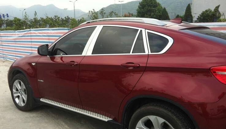 Молдинги окон BMW X6 E71 2008-2012 (20 молдингов)Хромированные накладки BMW X6<br>Молдинги относятся к наиболее распространенным элементам внешнего автомобильного тюнинга. Аксессуары выполняются в виде небольших выпуклых планок для декорирования боковых окон автомобиля. Накладки на окна двер...<br>