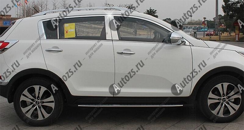 Молдинги окон Kia Sportage 3 2010-2015 (22 молдинга)Хромированные накладки KIA Sportage<br>Молдинги относятся к наиболее распространенным элементам внешнего автомобильного тюнинга. Аксессуары выполняются в виде небольших выпуклых планок для декорирования боковых окон автомобиля. Накладки на окна двер...<br>