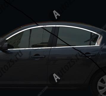 Молдинги окон Mazda 3 BL 2009-2013 седан (8 молдингов)Хромированные накладки Mazda 3 <br>Молдинги относятся к наиболее распространенным элементам внешнего автомобильного тюнинга. Аксессуары выполняются в виде небольших выпуклых планок для декорирования боковых окон автомобиля. Накладки на окна двер...<br>