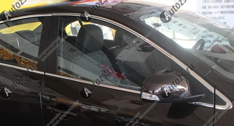 Молдинги окон Renault Fluence 2010+ (20 молдингов)